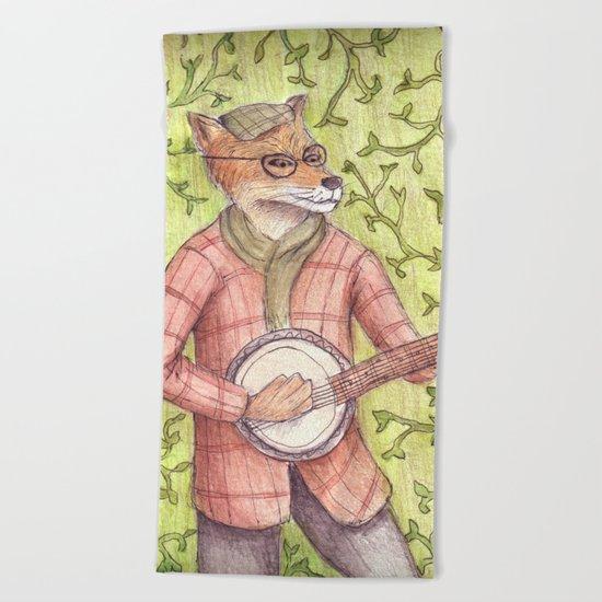 Play us a song Mr. Fox Beach Towel