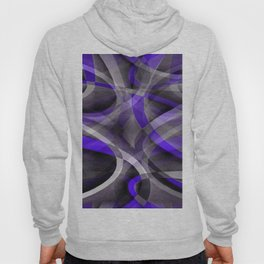 Eighties Vibes Violet Blue and Grey Funky Pattern Hoody