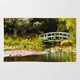 Replica Monet Bridge at Bennetts Water Gardens Rug