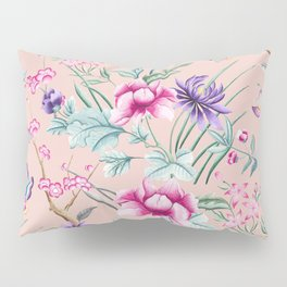 Floral Chinoiserie - Pale Dogwood Pillow Sham