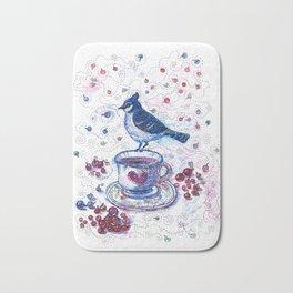 Winter Tea (Ble Jay) Bath Mat