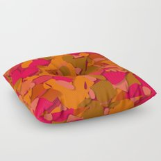 red camouflage Floor Pillow
