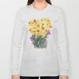 Spring Daffodil Patch Long Sleeve T-shirt
