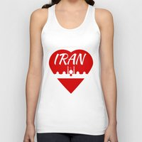 arab Tank Tops featuring Iran by mailboxdisco