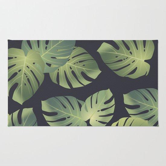 Monstera Tropical Leaf Rug By Marta Olga Klara Society6