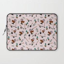 Farm Silhouette Pattern Design Laptop Sleeve