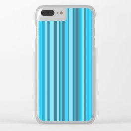 Stripe obsession color mode #7 Clear iPhone Case