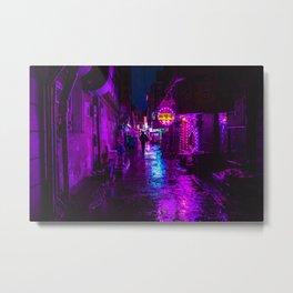 Shadowy Alley Metal Print