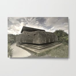 Normandy Bunker  Metal Print