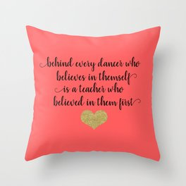 Dance Teacher Gifts Throw Pillow