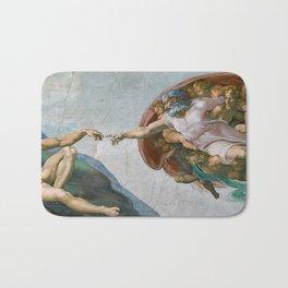 Creation of Adam – Sistine Chapel by Michelangelo Bath Mat