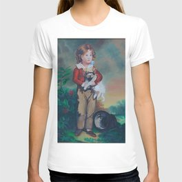 Chums, French Boy with Dog  T-shirt