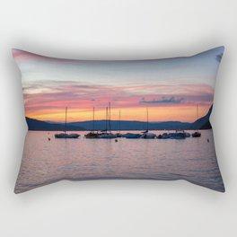 Sunset Lake Annecy Rectangular Pillow