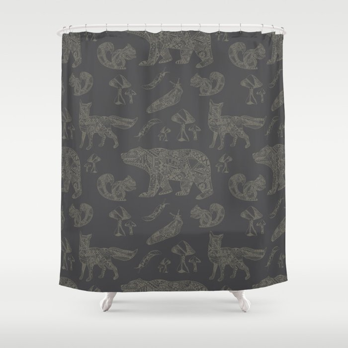 Shafted Woods Shower Curtain
