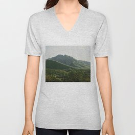 View of the Bridge and Part of the Town of Cava, Kingdom of Naples by Jean-Joseph-Xavier Bidauld Unisex V-Neck