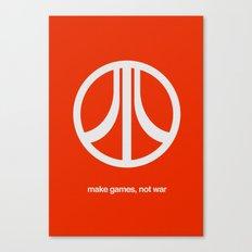 Make Games, Not War Canvas Print