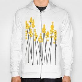 Hello Spring! Yellow/Black Retro Plants on White #decor #society6 #buyart Hoody