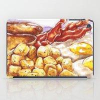breakfast iPad Cases featuring Breakfast by heatherinasuitcase