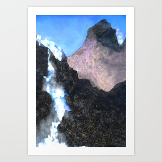 Canadian Mountain Scene Art Print