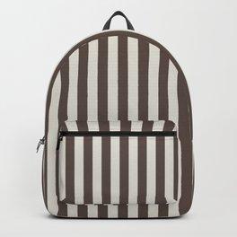 Chateau Brown and Heron Plume Stripe Backpack