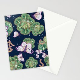mischief in the garden Stationery Cards