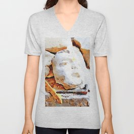L'Aquila: ruble, face and brush in the interior of church destroyed Unisex V-Neck