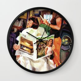 Remington Reese styles Rosemary's 'do at Natural Creations, Newport Wall Clock