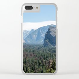 Tunnel view. the best way to see Yosemite. Clear iPhone Case