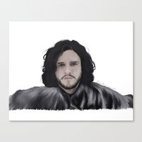 jon snow Canvas Prints featuring JON SNOW  by Flambino Gambino
