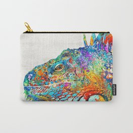 Colorful Iguana Art - One Cool Dude - Sharon Cummings Carry-All Pouch