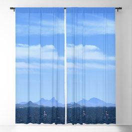 Blue sea. Blackout Curtain