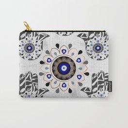 Mandala Evil Eye Hamsa Hand Carry-All Pouch