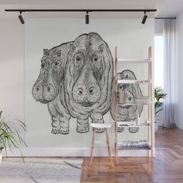 Hippos Wall Mural