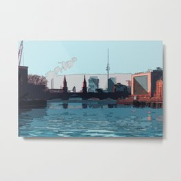 Berlin skyline illustration - abstract cityscape drawing Metal Print