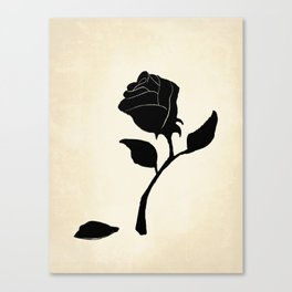 Silhouetted Rose Canvas Print