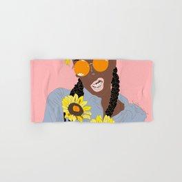 Believe in Yo Juice - Digital Black Goddess Vector Drawing Hand & Bath Towel
