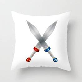 Two Roman Swords Throw Pillow
