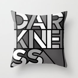 Darkness - Stained Glass Throw Pillow