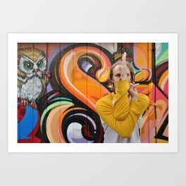 Yoga Asana in the Mission, San Francisco, California Art Print