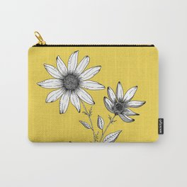 Wildflower line drawing | Botanical Art Carry-All Pouch