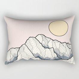 The sun and mountain Rectangular Pillow