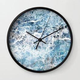 Sea foam blue marble Wall Clock