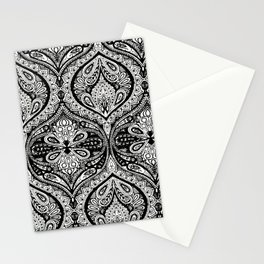 Simple Ogee Black & White Stationery Cards