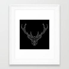 Low Poly Deer Framed Art Print