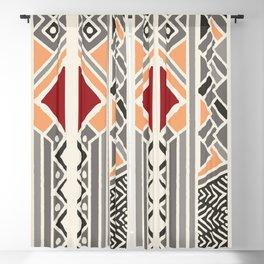 Tribal ethnic geometric pattern 034 Blackout Curtain