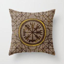 Vegvisir. The Magic Navigation Viking Compass Throw Pillow