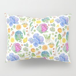 Winter Harvest Pattern White Pillow Sham
