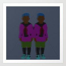 ☹ Bionic Twins ☹ Art Print