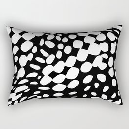 DOTS DOTS BLACK AND WHITE DOTS PATTERN Rectangular Pillow