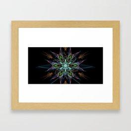 Electric Star Framed Art Print